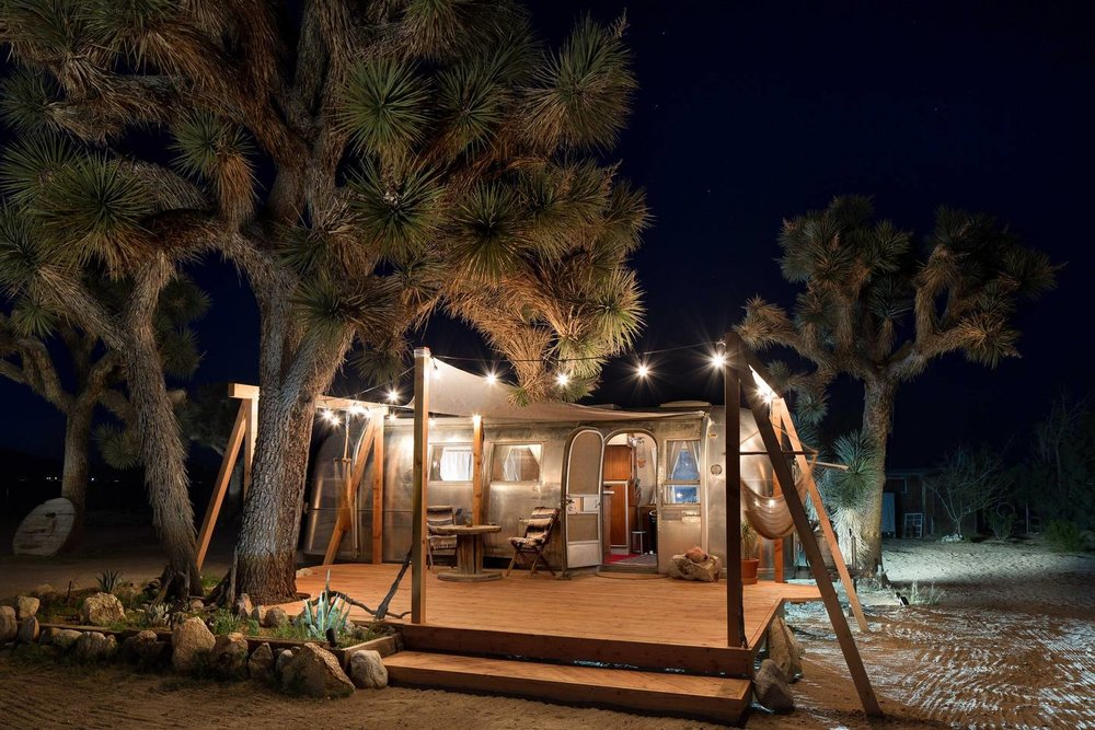 Retreat guests will stay in vintage airstreams!