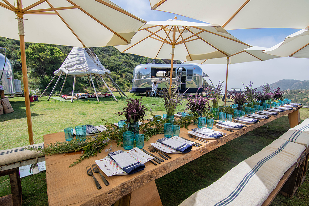 A beautiful table setting at One Gun Ranch in Malibu to celebrate the launch of  Nurture .
