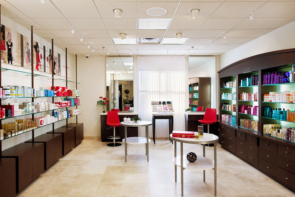 The Red Door Salon and Spa's retail boutique.