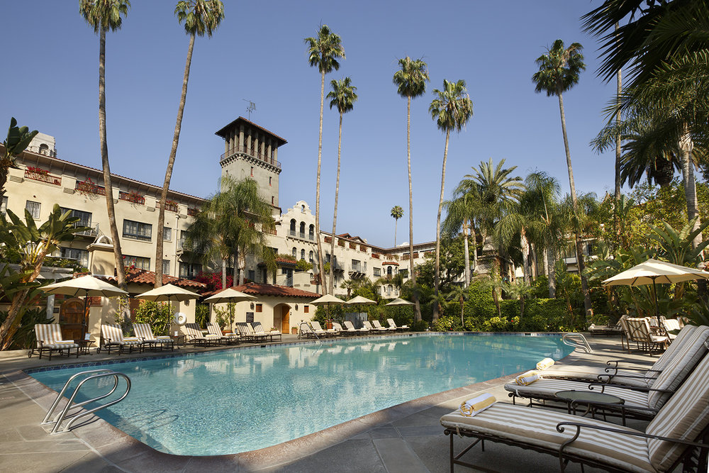 The hotel and spa boasts a year-round outdoor pool and spa center.
