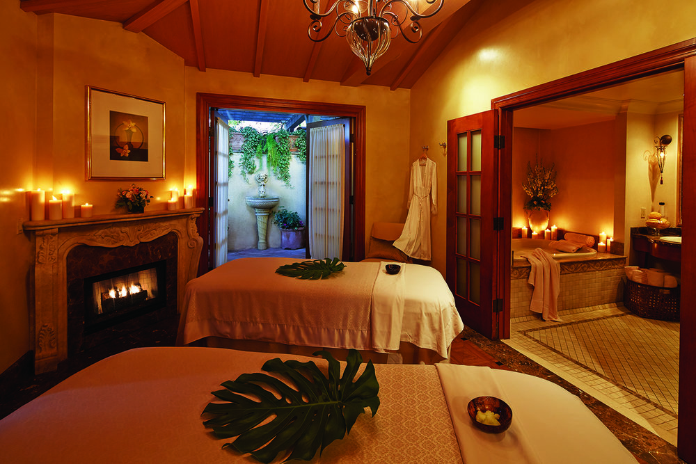 The spa has two private villas that can be used for couples treatments.