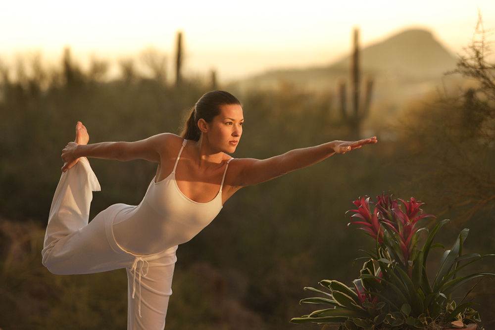 The JW Marriott Tucson Starr Pass Resort & Spa offers sunrise and sunset yoga.