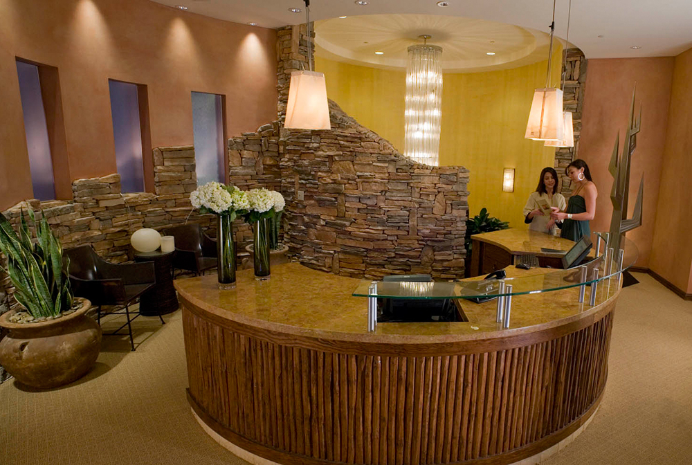 The reception area at Hashani Spa.