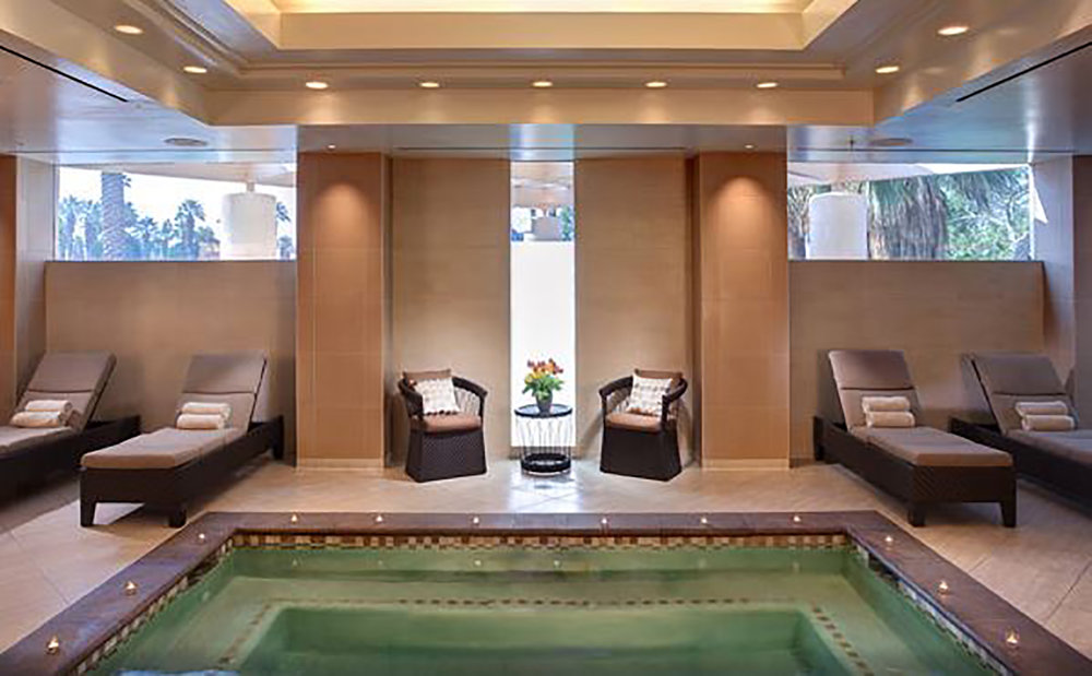 Purchase of a spa treatment includes use of the changing facilities and fitness equipment.