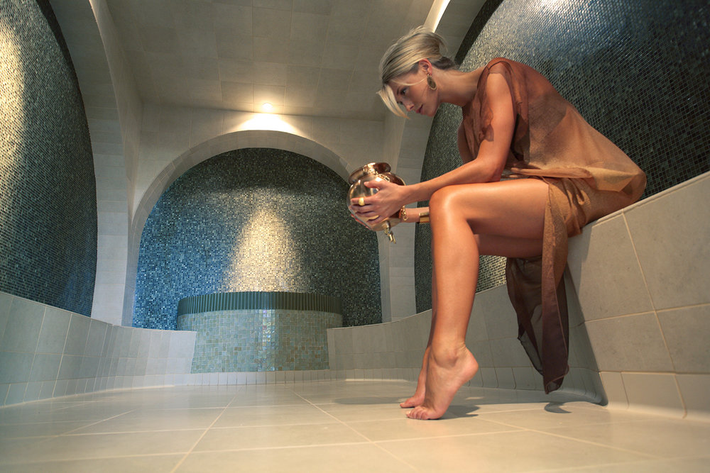 Guests can relax in the state-of-the-art hammam-inspired bath.