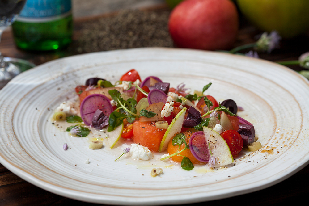 Canyon Ranch offers healthy and delicious food options like the Radish Watermelon Tomato Salad.