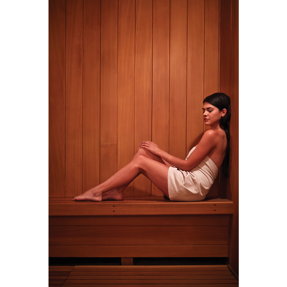 The sauna at The Spa at The Four Seasons Los Angeles at Beverly Hills.