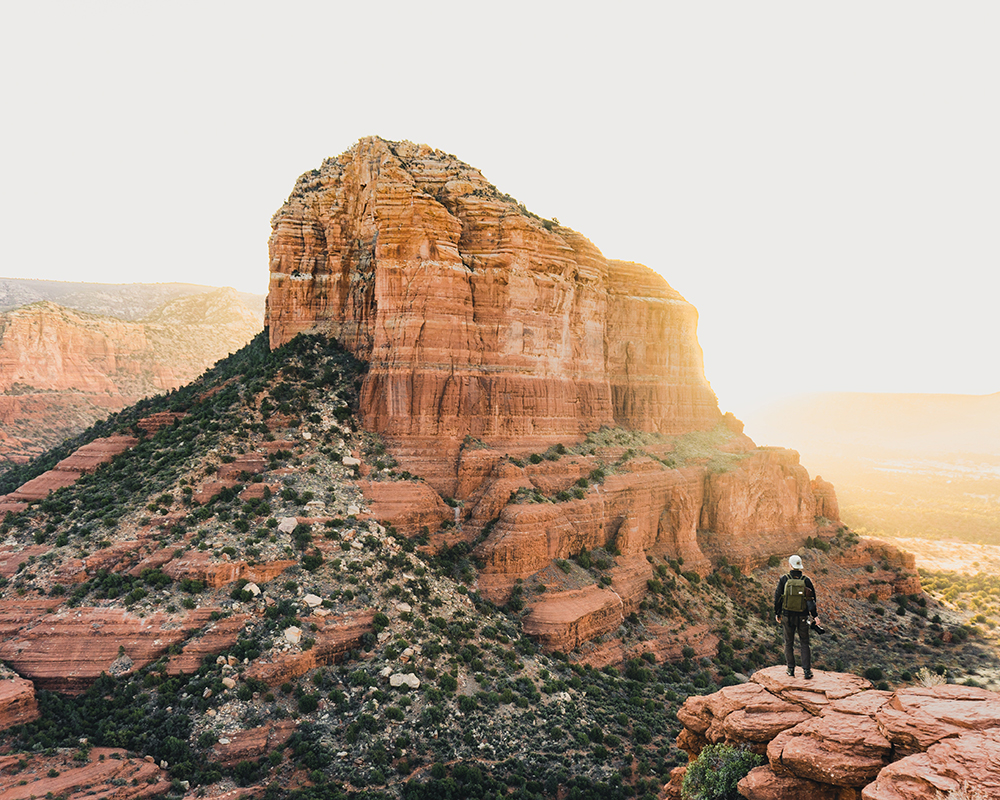Sedona is home to beautiful canyons and red rock formations.