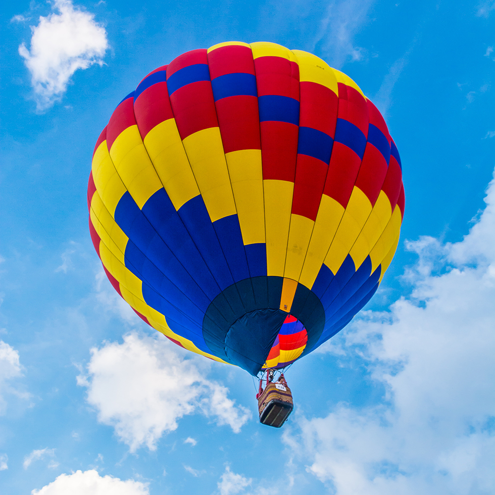 Stowe, Vermont is home to the Stoweflake Hot Air Balloon festival.