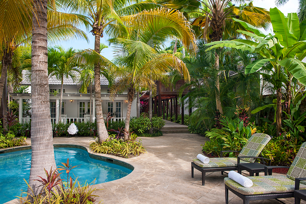 Relax by the pool at Half Moon in Montego Bay, Jamaica.