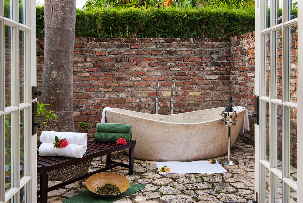 Treatments at Fern Tree Spa incorporate local traditions and ingredients. The Jamaican Bush Bath is steeped with fresh herbs, roots, leaves and fruits,