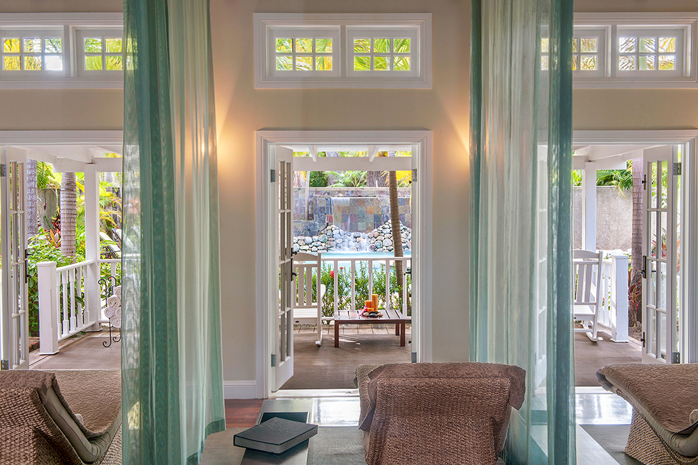 Relaxing views at the Fern Tree Spa at Half Moon Bay in Montego Bay, Jamaica.