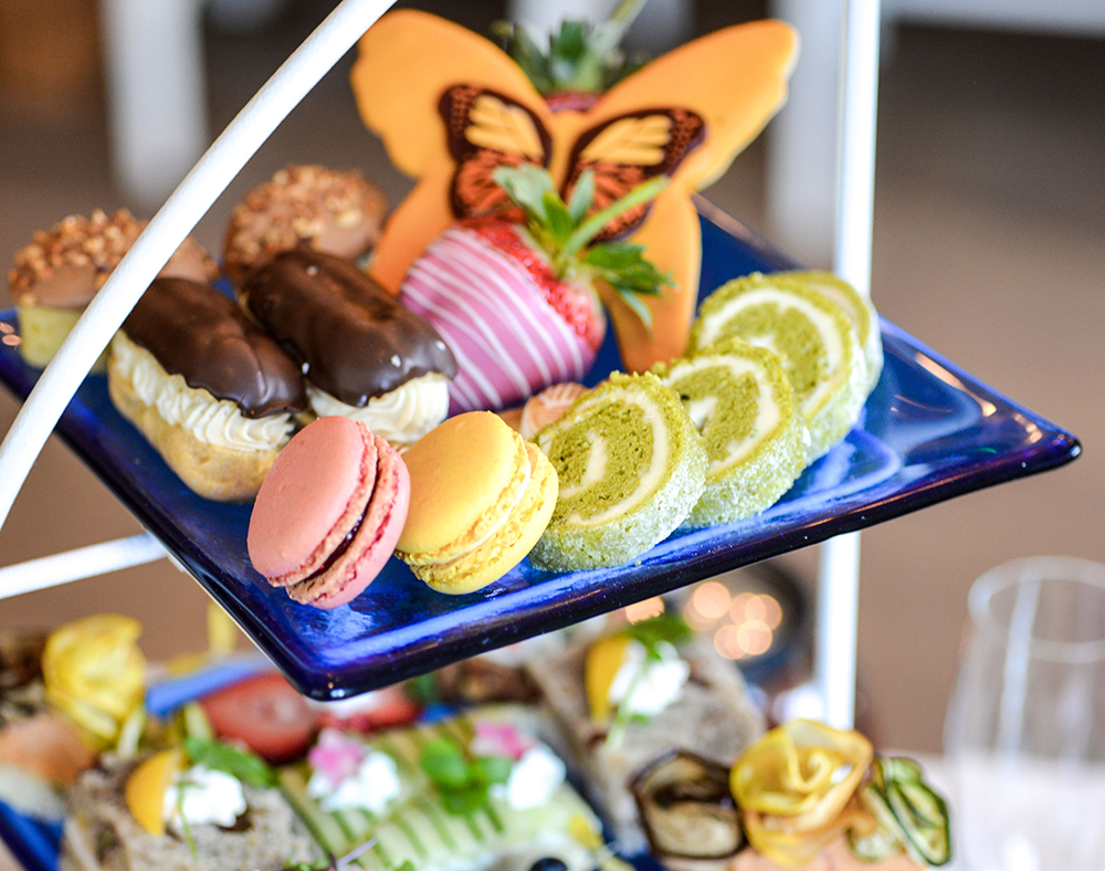Miraval Life in Balance at Monarch Beach Resort offers a casual spa high tea experience featuring California spa lobster rolls and house-made spa macarons.