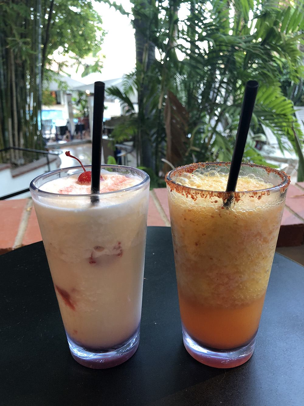 The Lava Flow and Mango Jalapeño Margarita.