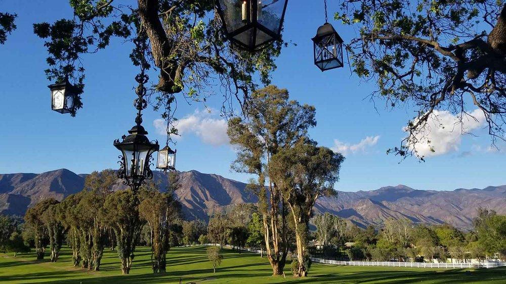 Stunning Ojai views at Ojai Valley Inn and Spa.