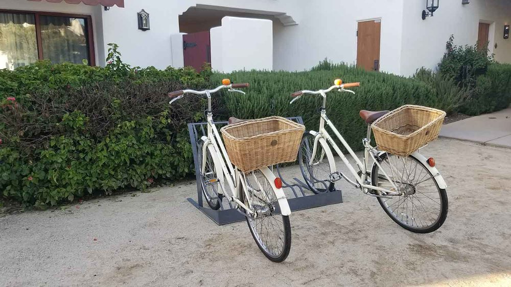 The Ojai Valley Inn and Spa offers complimentary bicycles.