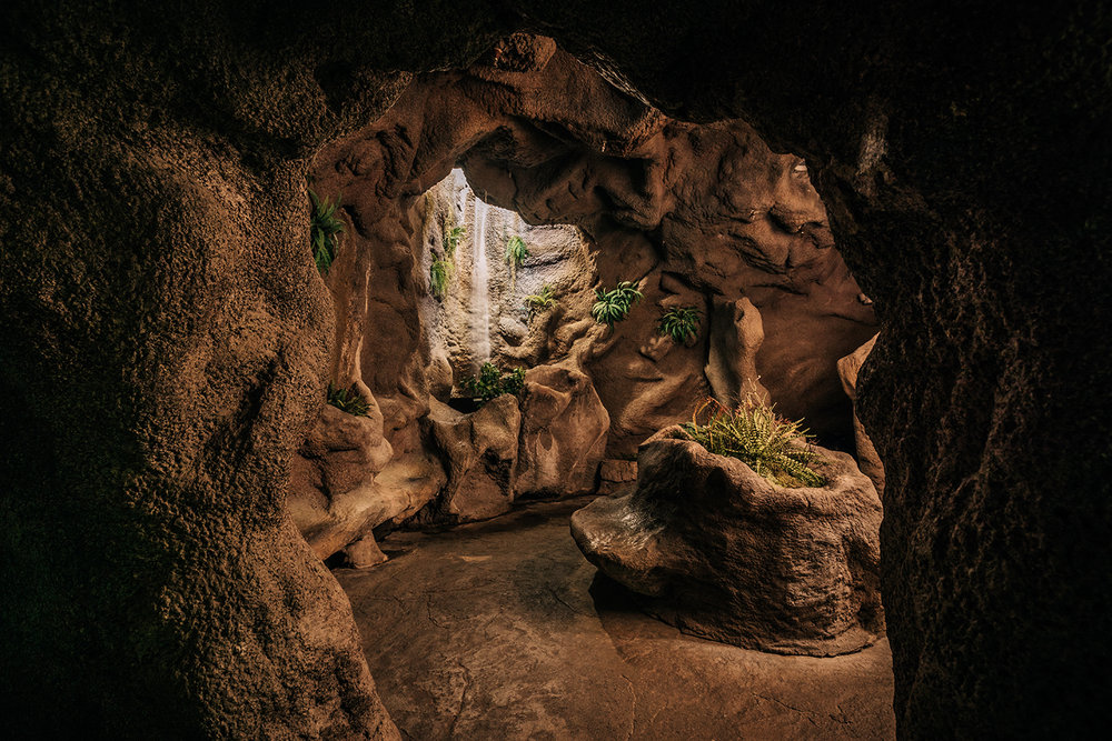 The grotto offers a relaxing neck-to-toe experience in a secret cave.