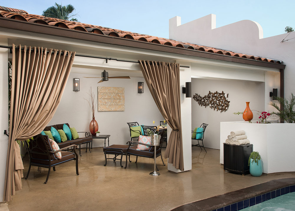 The property has cabanas that come with personalized service and dedicated menus.