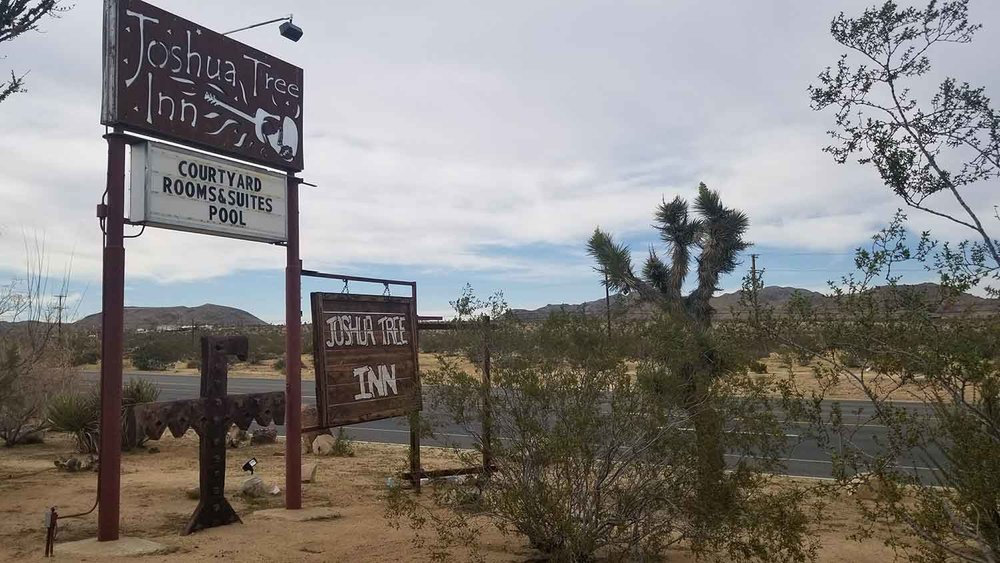 Famous country rock musician Gram Parsons spent his last hours at the Joshua Tree Inn.
