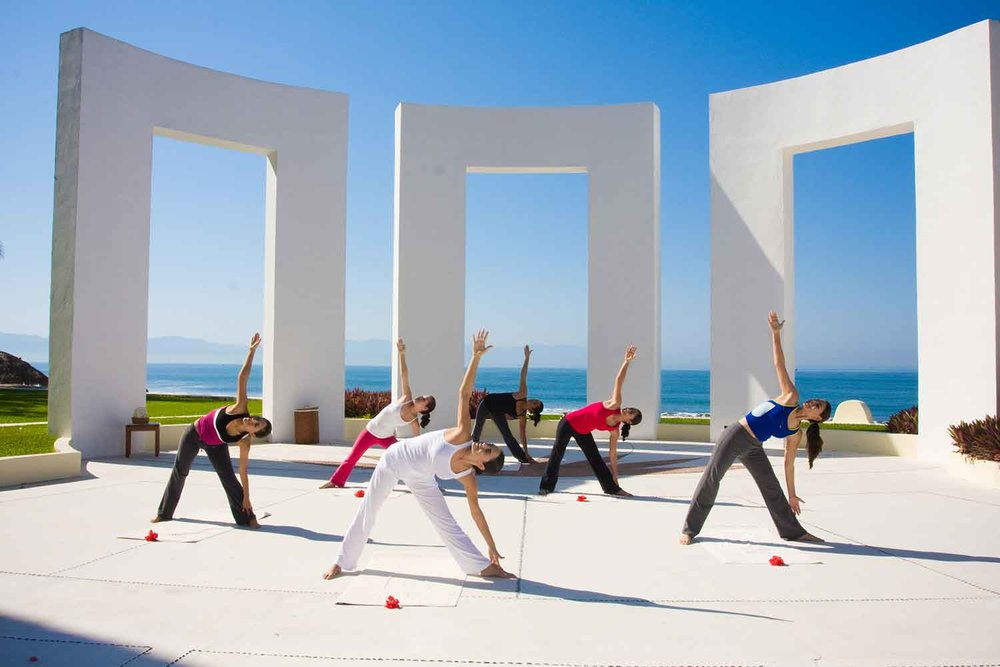 Yoga sessions at the Wellnessing Getaway include Kundalini yoga sessions led by Ana Paula Domínguez, founder and director of the Mexican Institute of Yoga.