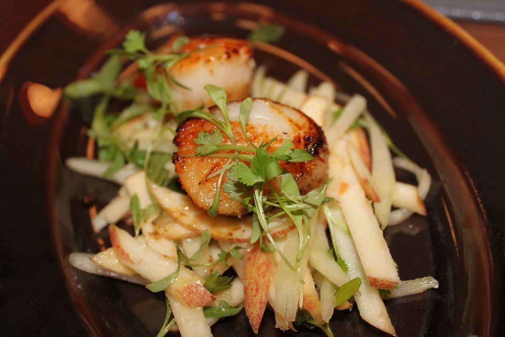 The Scallops and Papaya Salad.