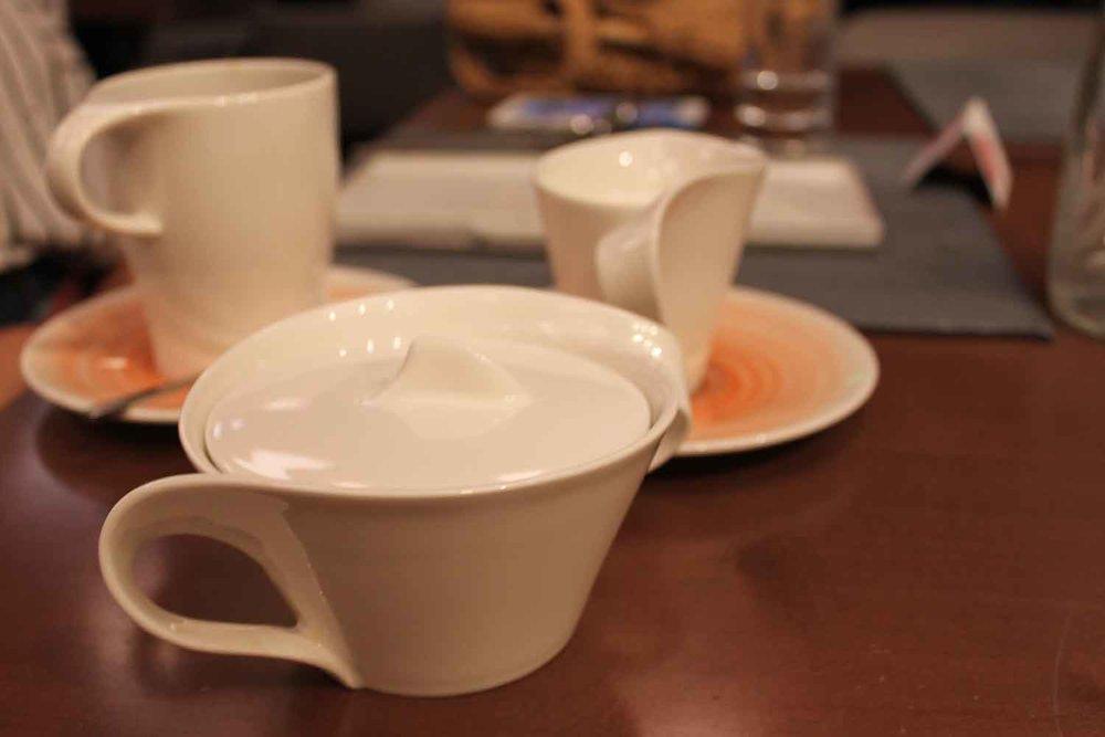 Mid-Century Modern coffee ware.