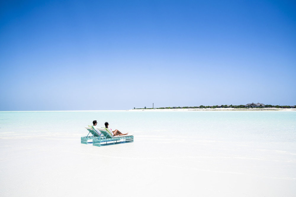 Guests of the resort enjoy complete solitude away from the rest of the world.