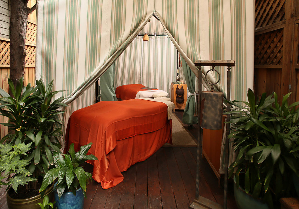 Guests can also enjoy outdoor treatments in the cabana.