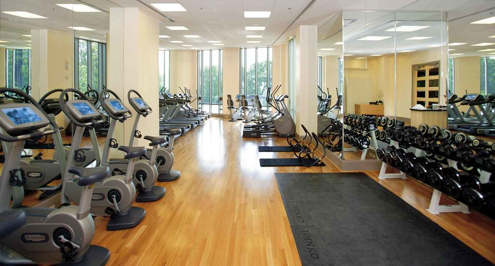 The fitness center at Mandarin Oriental, Washington DC.