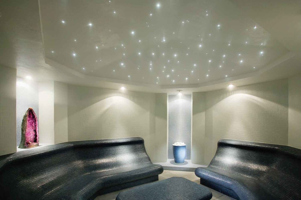 The spa's amethyst steam room.