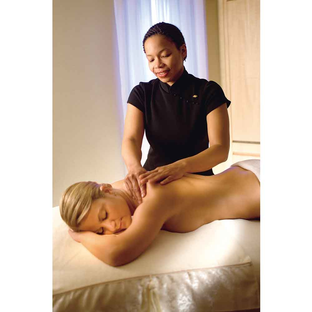 A guest enjoys a spa treatment at The Spa at Mandarin Oriental, Washington DC.