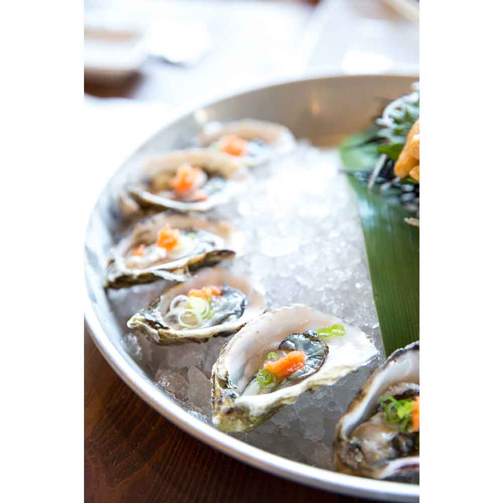 Guests at the Four Seasons Resort Maui can indulge in oysters hand-shucked to order.