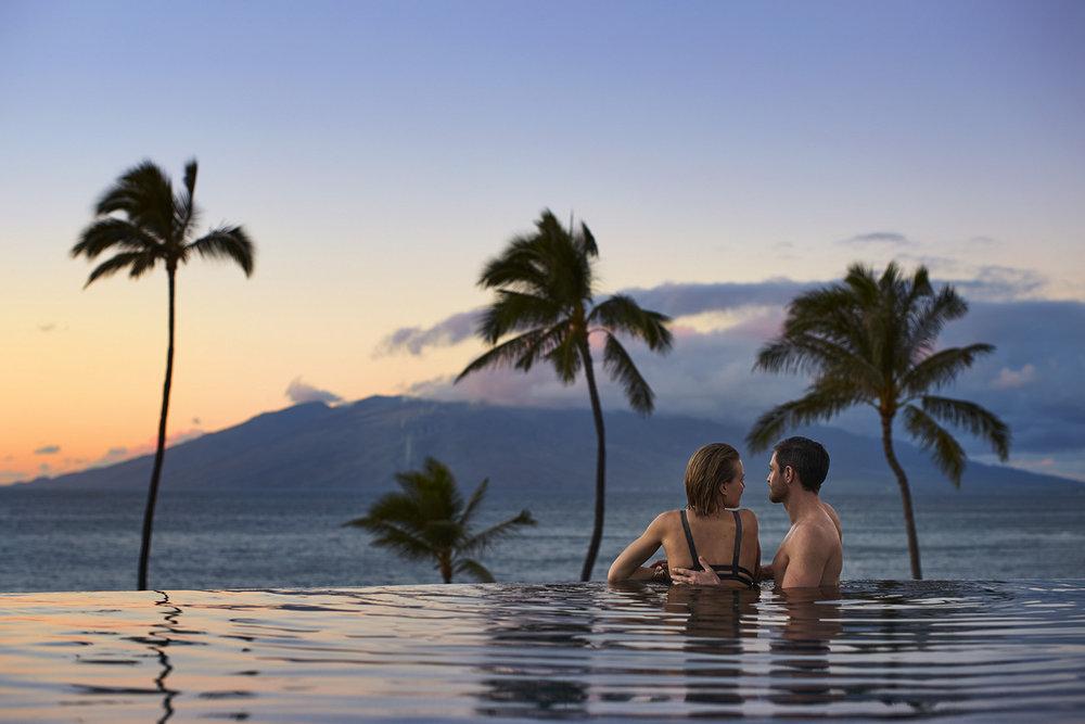 Set against the backdrop of Wailea's stunning coastline, Four Seasons Resort Maui announces Couples Season (Sept 1 - Dec 15). [Image courtesy of Four Seasons Resort Maui.]
