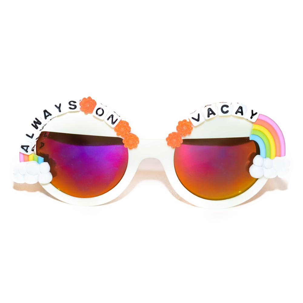 """Always on Vacay"" sunglasses ($42)."