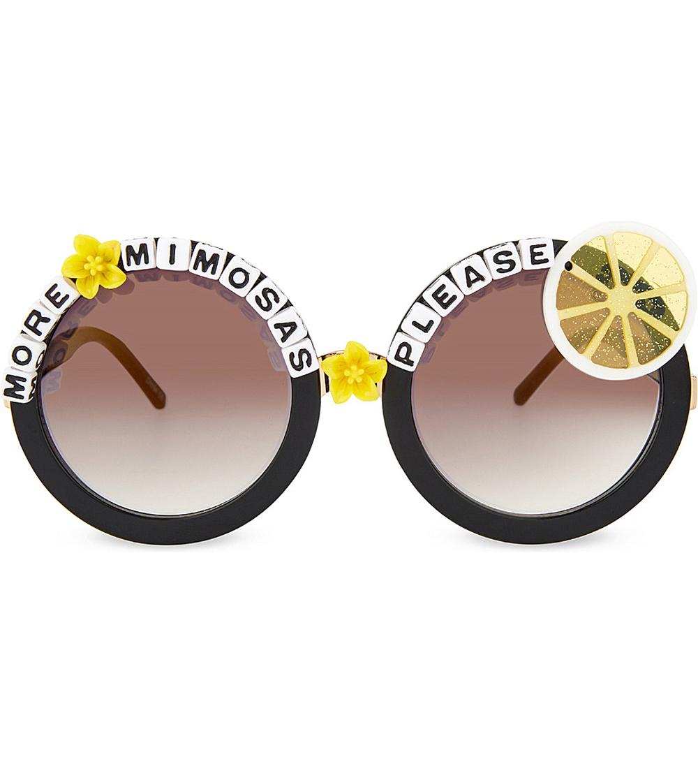 """More Mimosas"" sunglasses ($42)."
