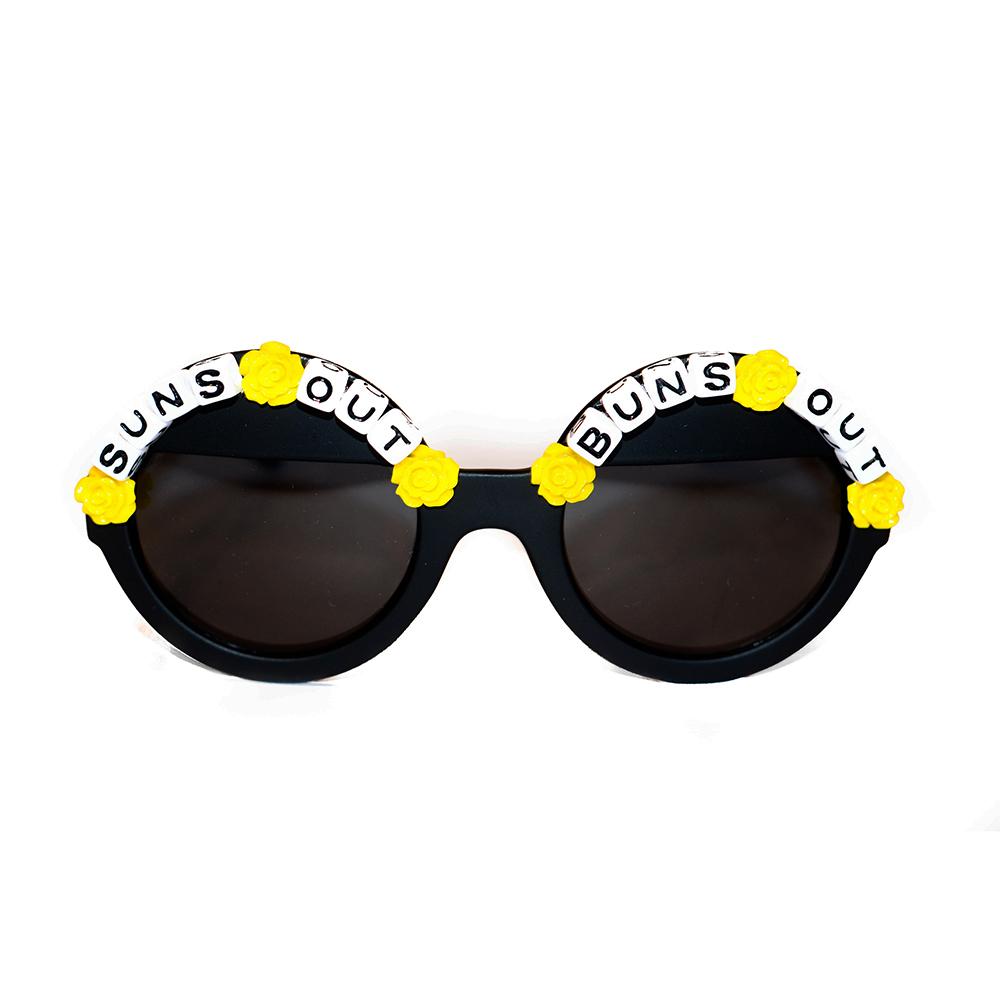 """""""Suns Out Buns Out"""" sunglasses ($22)."""