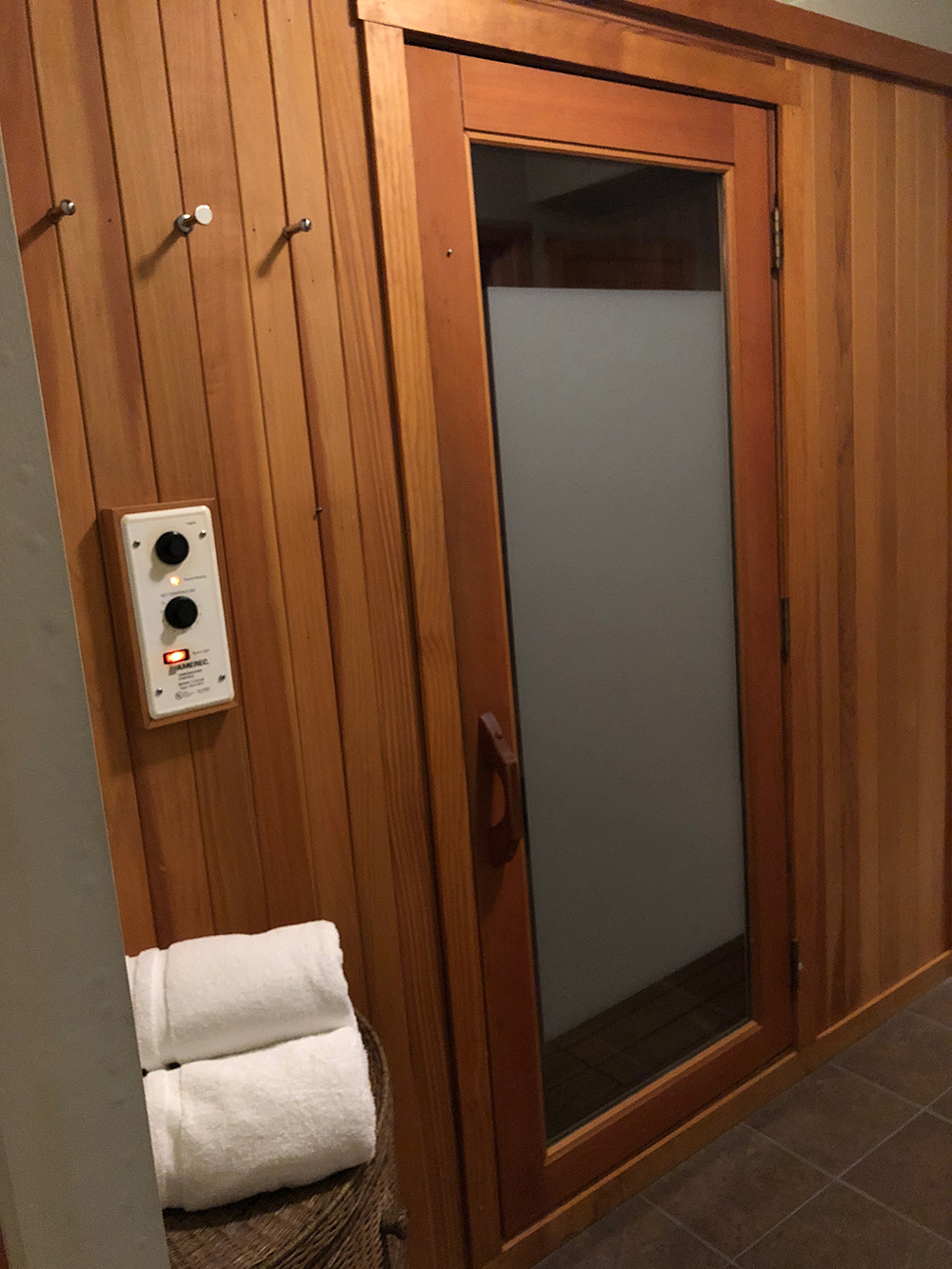 The dry sauna is another amenity offered to spa guests.
