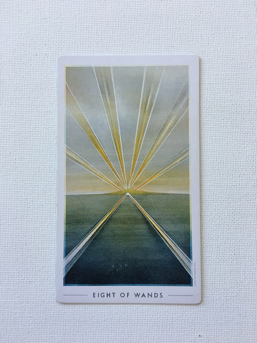 Eight of Wands.