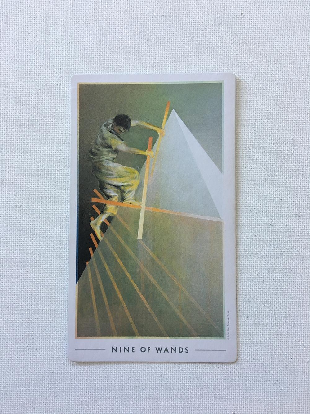 Nine of Wands.
