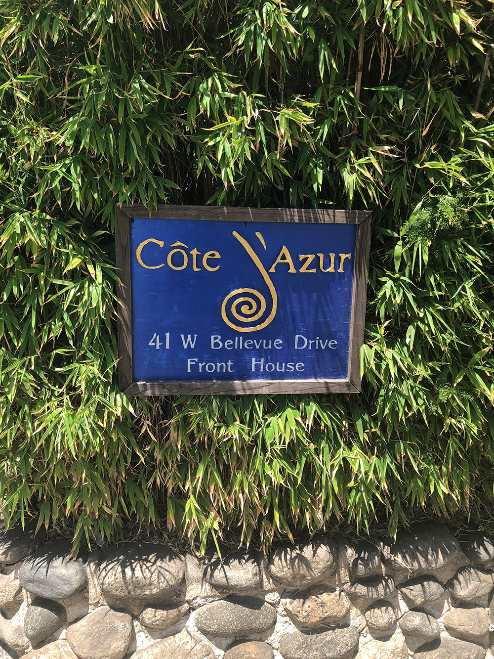 Cote d'Azur is located in a beautiful historical home in Pasadena, California.