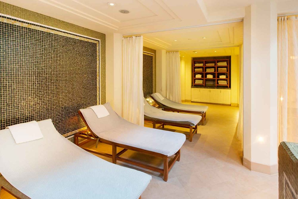 Co-ed relaxation lounge at Spa Montage, Beverly Hills.