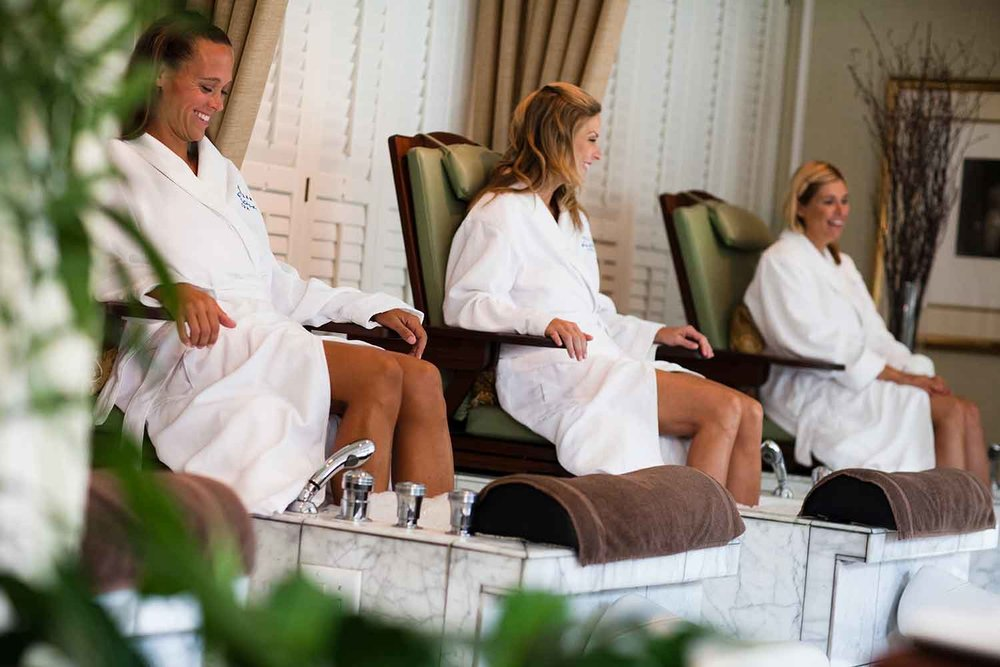 Guests enjoy treatments  at Kohler Waters Spa.