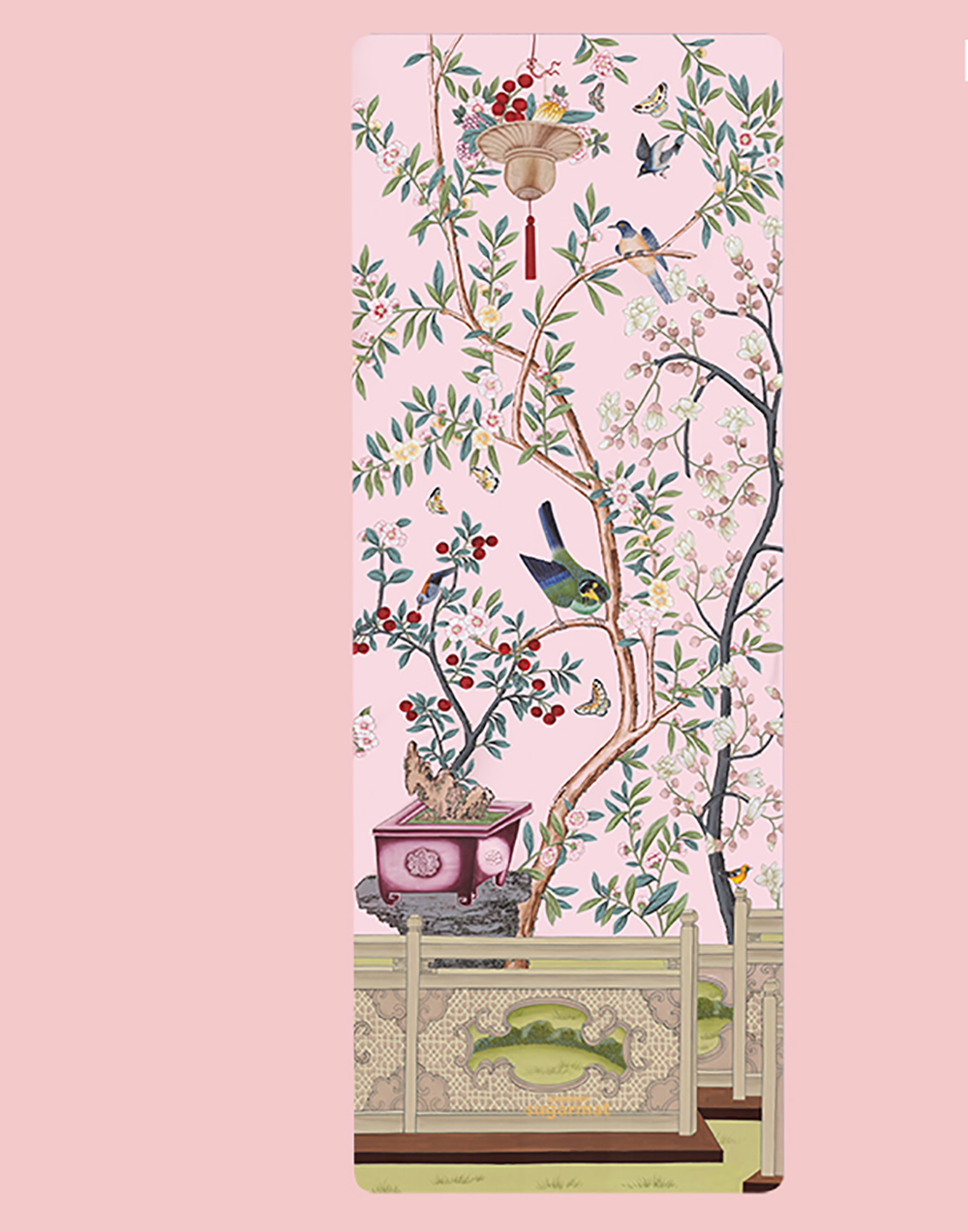 The Pink Pampas Panel 3 design from the Chinoiserie collection ($89).