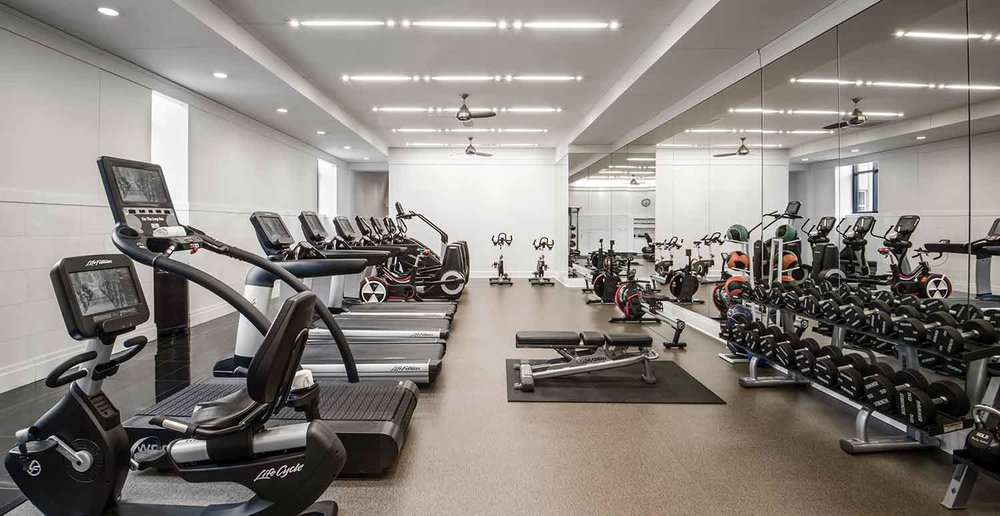 The state-of-the-art health club at The Waldorf Astoria Spa and Health Club, Chicago.