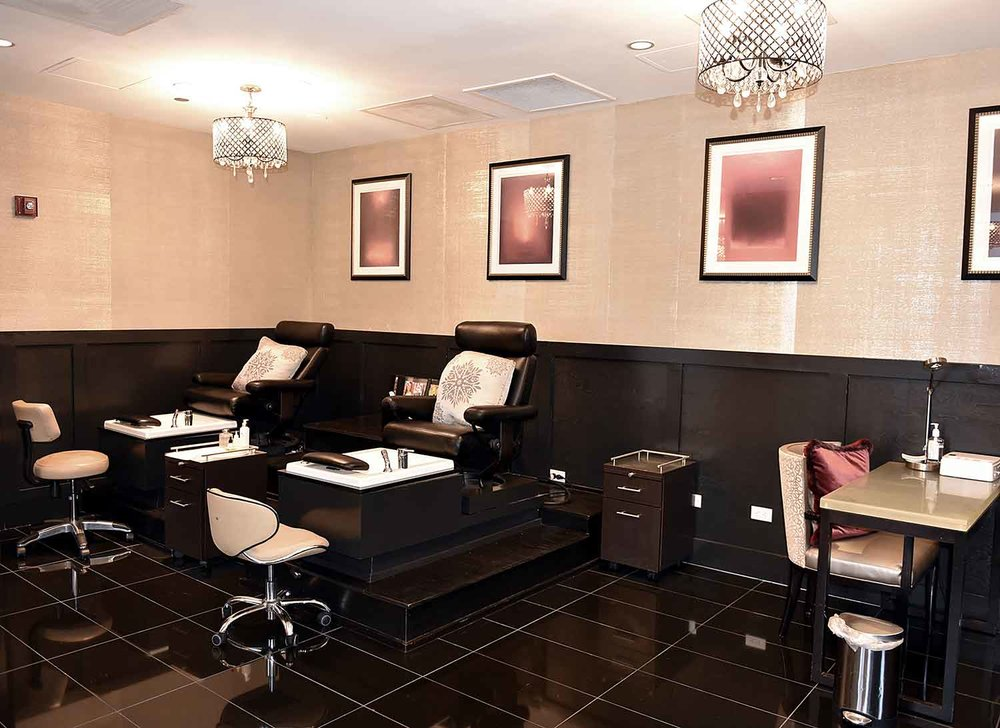 The nail salon at The Waldorf Astoria Spa and Health Club, Chicago.