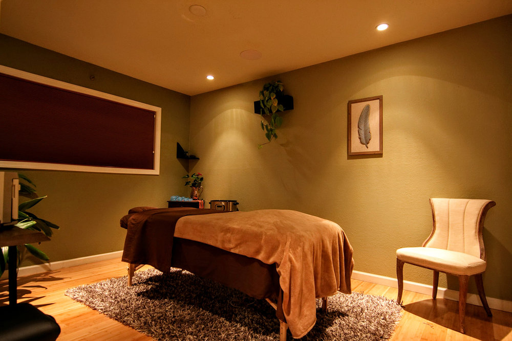 One of the spa's comfortable treatment rooms.