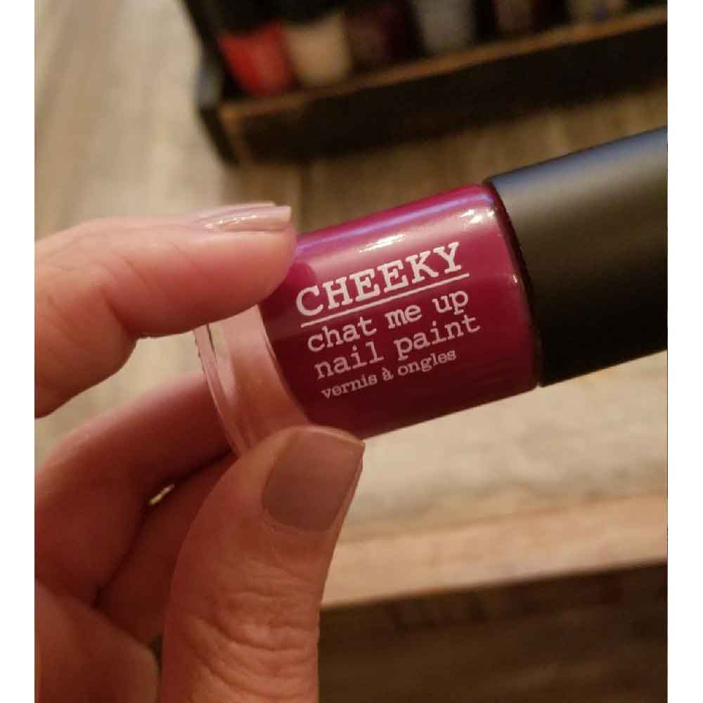 Cheeky Nails Chat Me Up Nail Paint is the featured polish brand at Cowshed Spas.