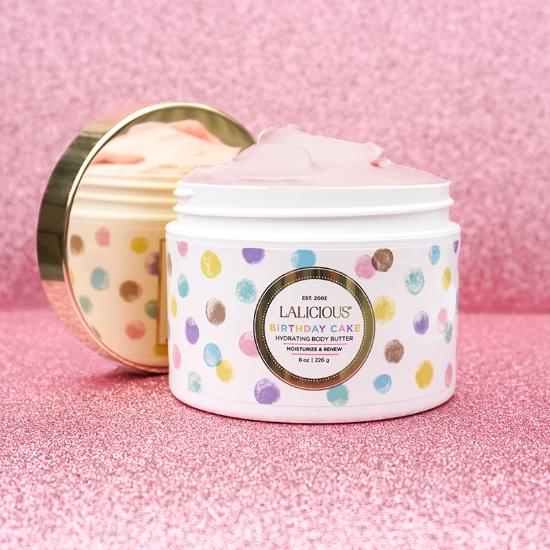 LALICIOUS launched its Birthday Cake Body Butter ($34) in honor of the brand's 16th birthday.