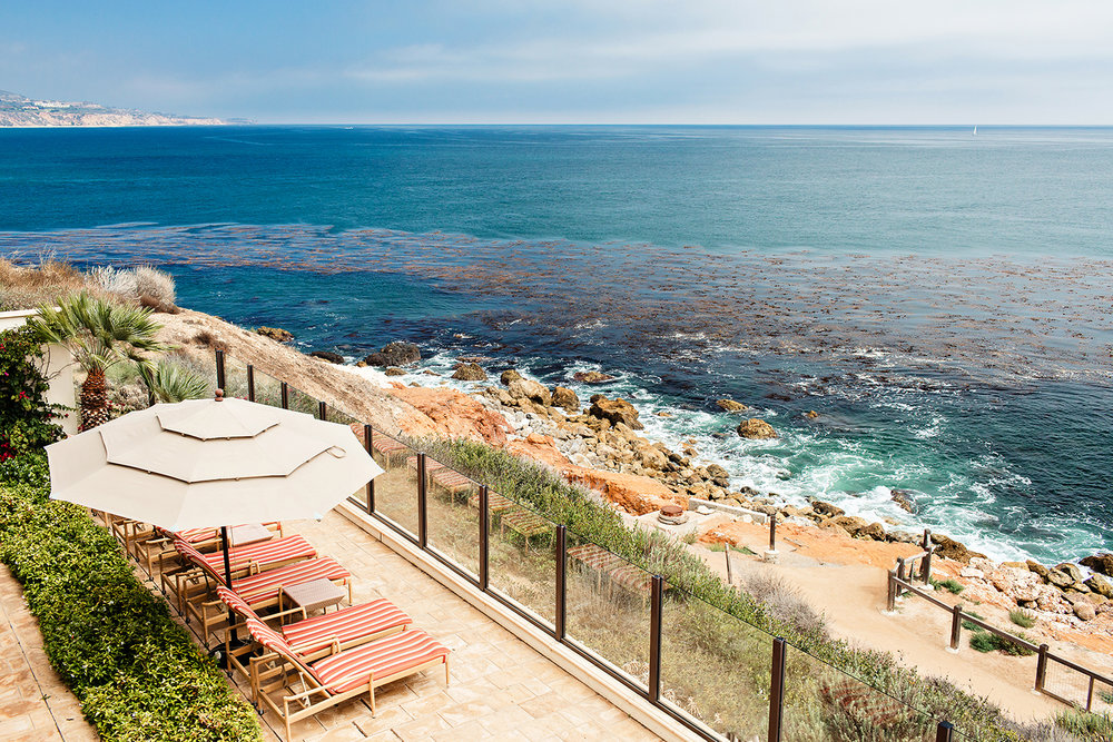 The Spa at Terranea directly overlooks the Pacific Ocean.