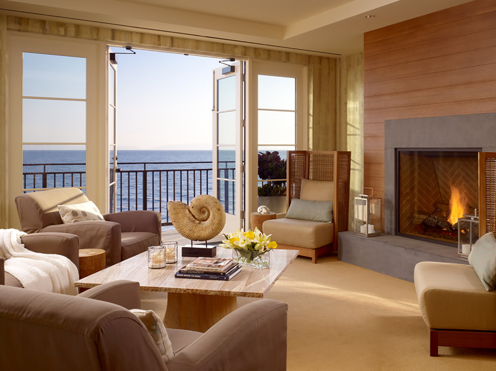 The Spa's oceanfront relaxation lounge.